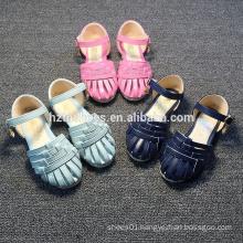 Fashion weave sandals kids summer flat sandals for girls