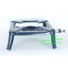 Fogão de gás de ferro fundido portátil grande para cozinhar fora