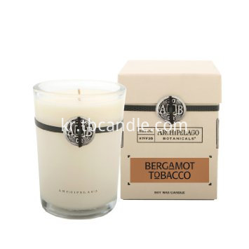 gifted soy wax  fragranced candle with container