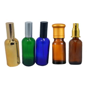 Bonne bouteille de verre à l'huile essentielle sur mesure avec un bouchon