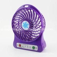 3 vitesses mini ventilateur portable ventilateur USB portatif avec batterie rechargeable