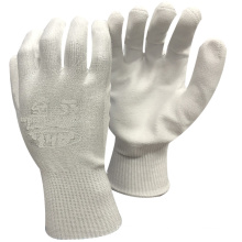 NMSAFETY стекло использовать порезостойкие 3 оболочка с полиуретановым покрытием ладони перчатки труда