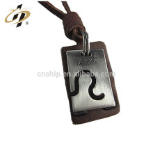 Best selling items products leather antique custom charm tag pendant