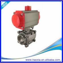 Válvulas de bola neumáticas de la sola acción 3PCS con la válvula de solenoide