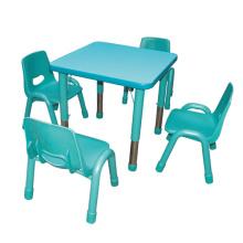Table et chaise de pépinière de cinq couleurs