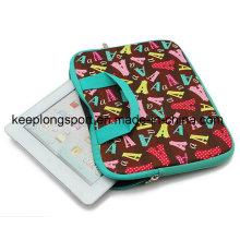 Bolsa de portátil de neopreno de impresión a todo color con mango