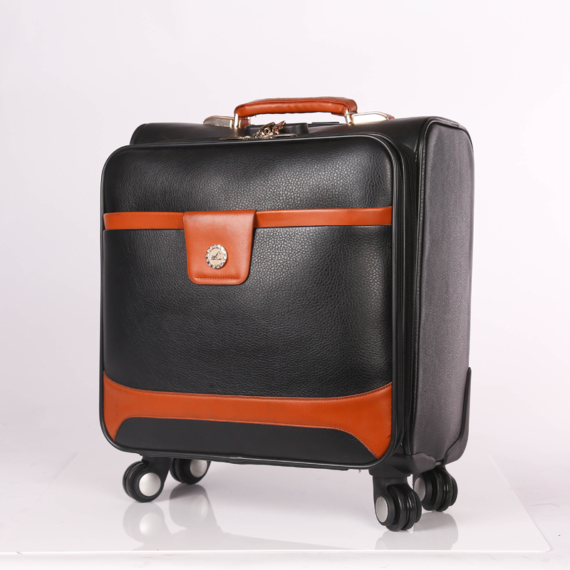 Design PU Trolley Luggage Bag