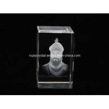 Guru Gobind Singh Ji Statue in Crystal for Sikh Souvenir