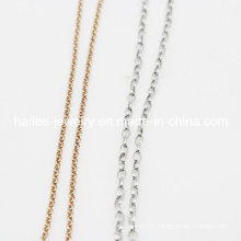 Fashion Costume Stainless Steel Jewelry Women Link Chain for Necklace