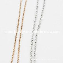 Moda traje de aço inoxidável jóias cadeia de ligação das mulheres para a colar