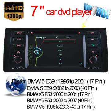 Car DVD Player for BMW M5 BMW 5 Series E39 GPS Navigation with Video Bluetooth (HL-8786GB)