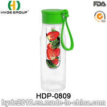 650ml aus Kunststoff BPA frei Tritan Fruit Infusion Wasserflasche (HDP-0809)