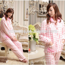 Terno de pijama quente melhor preço barato das meninas para a casa de inverno relaxar desgaste