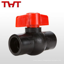 Exigence de Custermer THT marque en acier au carbone Full Robinet à boisseau sphérique