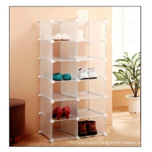 White DIY Shoe Rack, Wall Cube Storage (FH-AL03014)