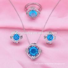 brazilian fancy costume jewelry with cz rings earring jewelry sets