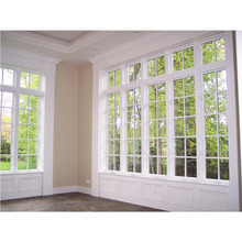 großes Glas-Aluminiumfensterrahmen, das Fenster schiebt