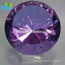 High quality purple crystal diamond paperweight for wedding souvenirs