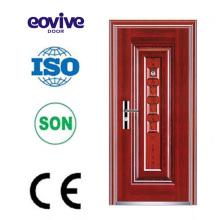 diseños de puerta de hierro de entrada frontal de acero metal de la seguridad