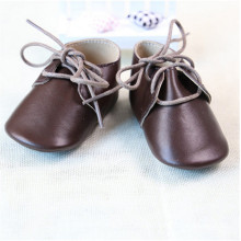Brown Tassel Paragraph: Leather Baby Shoes