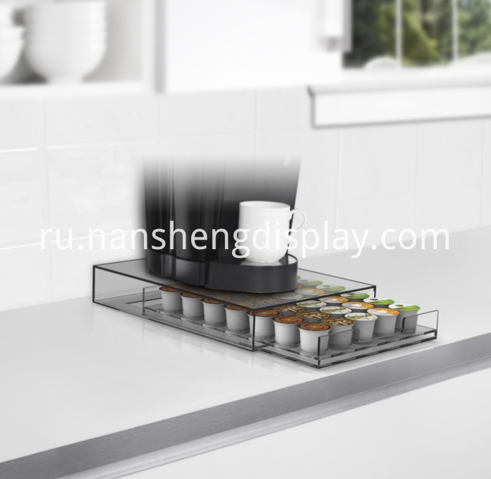 Clear Coffee Pod Storage Drawer