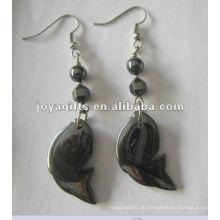 Magnetische Hämatit Cyprinoid Perlen Ohrringe