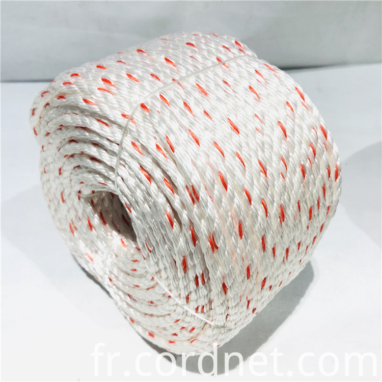 White With Orange Pp Multifilament Rope 2