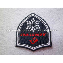 2015 custom embroidered patches no minimum / Iron on patch/ custom woven patch/ woven patch