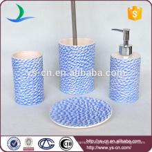 Diseño de la moda diseño de la superficie de los pescados conjunto de baño de cerámica