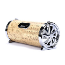 Support USB/TF/AUX/Radio 20W Perfect Sound Portable Wooden Bluetooth Speaker