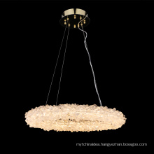 Contemporary natural crystal rock chandelier pendants for home for sale