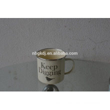 hot selling customized enamel cup/enamel mug with decals