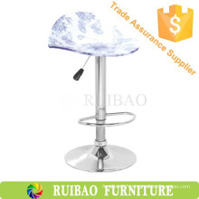 Acrylic Swivel Plate Parts Barstool Indoor Wooden Bar Furniture