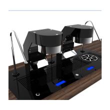 Two Group Under Counter Espresso Coffee Machine