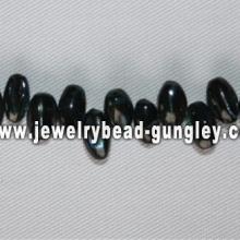 black rice shape freshwater shell beads