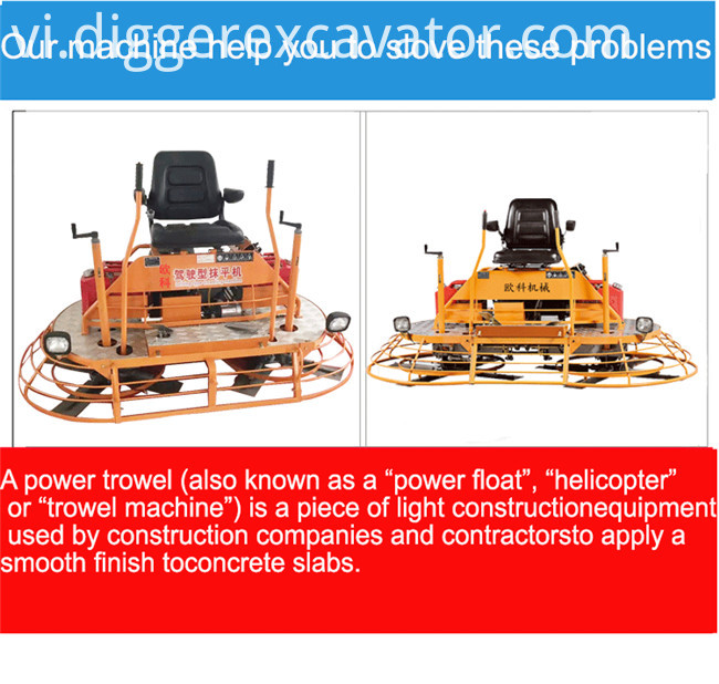 Construction Tools Smoothing Power Trowel Machine