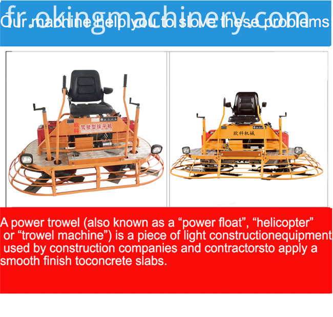 Gasoline engine Power Trowel Concrete