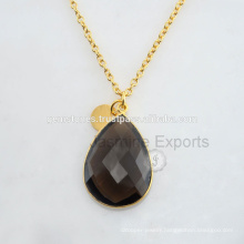 Handmade Gold Plated Sterling Silver Quartz Silver Jewelry