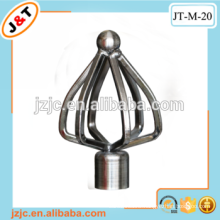 double extension curtain rod with decorative metal curtain rod end caps