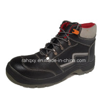Split Embossed Leather Safety Shoes with Mesh Lining (HQ05032)
