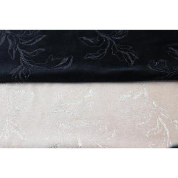 Tecido de malha poli estampado tecido de veludo para sofá
