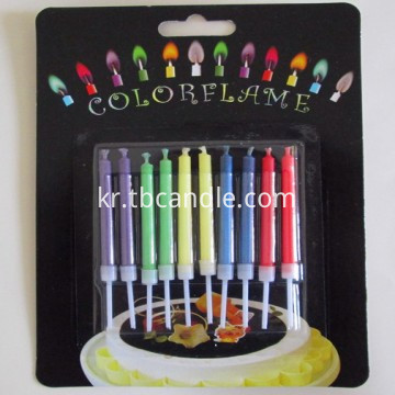 10pcs new colored flame candle for birthday cake