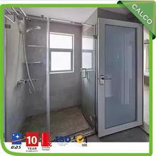 Residential shower slide door