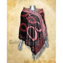 Mantones viscosa de moda del pashmina de la cachemira