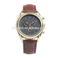 2017 new arrive special design custom mens leather alloy watches