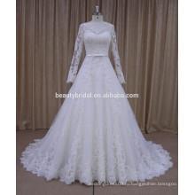 MARNEA мода цветочные мотивы длинным рукавом свадебное платье
