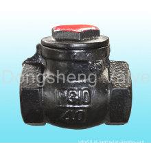 Válvula de retenção de rotação roscada de ferro fundido