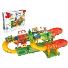 Juguetes eléctricos conjunto de trenes bricolaje juguetes de tren ferroviario (h5697106)