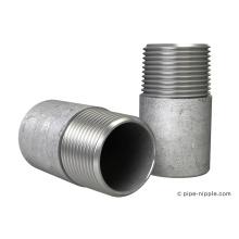 Niple de tubo galvanizado de un solo tornillo