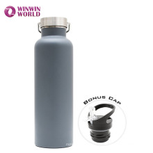 Botella de agua del viaje del acero inoxidable de la pared doble de Lala privada del FDA 1000ml
